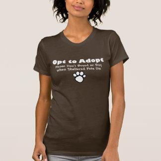 Choisissez d'adopter t-shirt