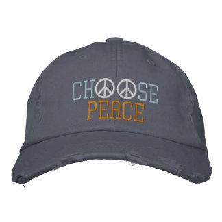 Choisissez la paix casquette brodée
