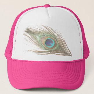 Choisissez la plume de paon d'arrière - plan casquette