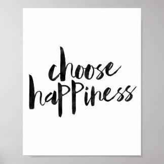 Choisissez le bonheur posters