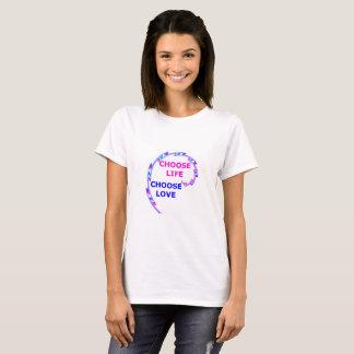 Choisissez le T-shirt de la vie et d'amour