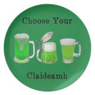 Choisissez votre arme gaélique assiettes en mélamine