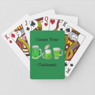 Choisissez votre arme gaélique jeu de cartes