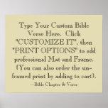 Choisissez votre copie d'art de vers de bible, fac affiches