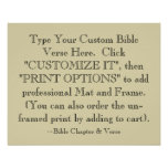 Choisissez votre copie d'art de vers de bible, affiches