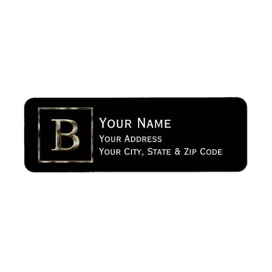 Choisissez votre propre retour A d'initiale en Étiquette D'adresse Retour