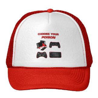 Choisissez votre rouge blanc de jeu de jeu pour le casquettes