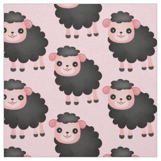 Choisissez votre tissu de moutons noirs de couleur