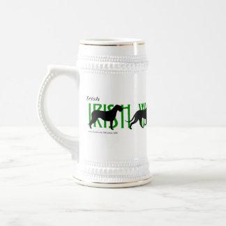 Chope À Bière 4 silhouettes de chien-loup irlandais