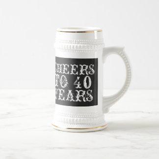 Chope À Bière Acclamations drôles de coutume à 40 ans de cadeau