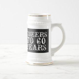 Chope À Bière Acclamations drôles de coutume à 60 ans de cadeau