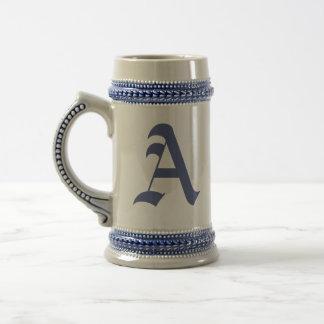 Chope À Bière Alphabet Gifting vieux Stein décoré d'un