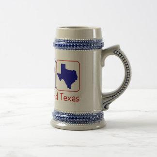 Chope À Bière Amour le Texas de paix