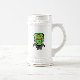 Chope À Bière Bande dessinée rouge et verte Halloween
