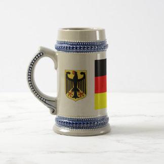 Chope À Bière Bière allemande Stein de drapeau
