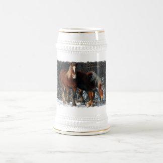 Chope À Bière Bière belge Stein de chevaux de trait