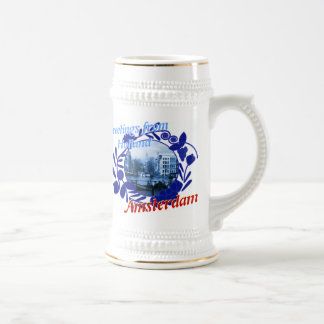 Chope À Bière Bière bleue Stein de Delft Amsterdam Hollande