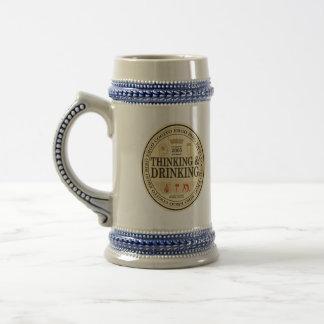 Chope À Bière Bière de pensée et potable Stein