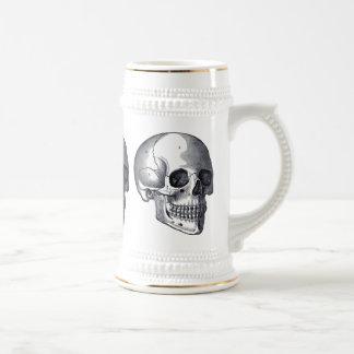 Chope À Bière Bière punk gothique Stein de crânes vintages