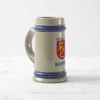 Chope À Bière Bière Stein avec la crête finlandaise