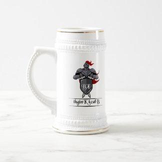 Chope À Bière Bière Stein avec le logo de la Manche - bord