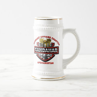 Chope À Bière Bière Stein d'adjudant d'OEF