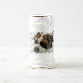 Chope À Bière Bière Stein de chien de St Bernard
