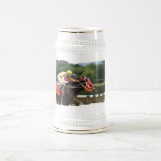 Chope À Bière Bière Stein de finition de course de cheval
