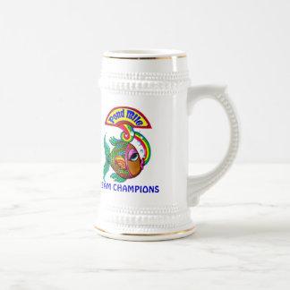 Chope À Bière Bière Stein de logo de champions d'équipe du mille