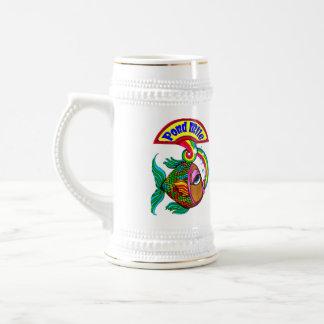 Chope À Bière Bière Stein de logo de mille d'étang