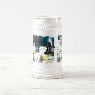 Chope À Bière Bière Stein de mouvement d'échecs