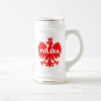 """Chope À Bière Bière Stein de """"Polska"""" Pologne"""