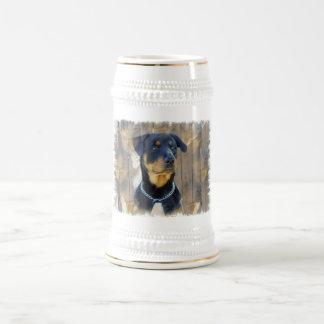 Chope À Bière Bière Stein de rottweiler