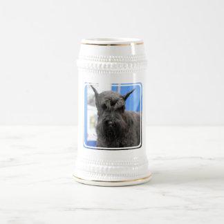 Chope À Bière Bière Stein de Schnauzer géant