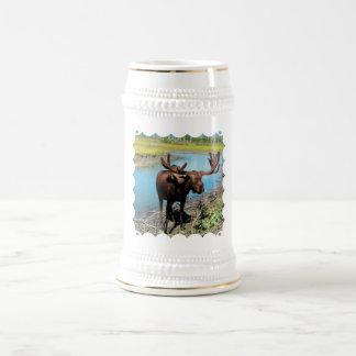 Chope À Bière Bière Stein d'orignaux de Taureau