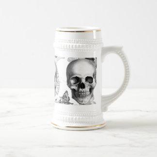 Chope À Bière Bière triple Stein de crâne