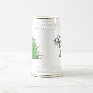 Chope À Bière Blanc et or de Greep Stein