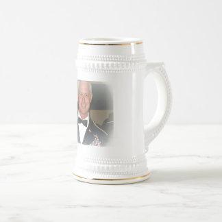 Chope À Bière blanc/or 22oz, Stein