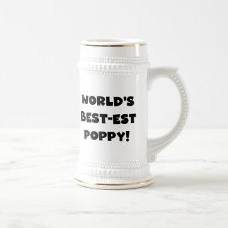Chope À Bière Cadeaux de pavot du Meilleur-est du monde noir des