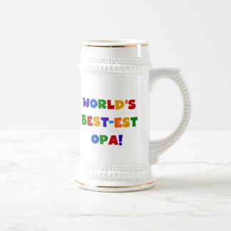 Chope À Bière Cadeaux lumineux de couleurs du Meilleur-est Opa