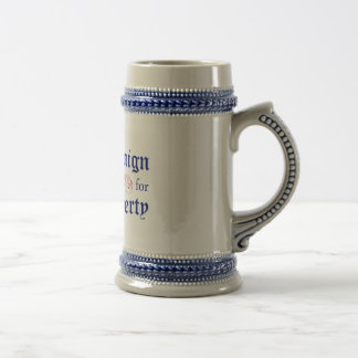 Chope À Bière Campagne pour le bleu Stein de logo de liberté