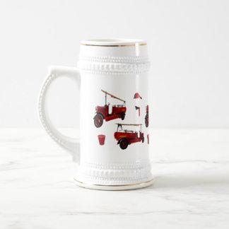 Chope À Bière Casquette rouge vintage de hache de casquette de