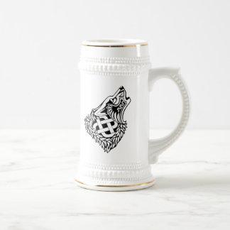 Chope À Bière Celtic hurlant Knotwork de loup
