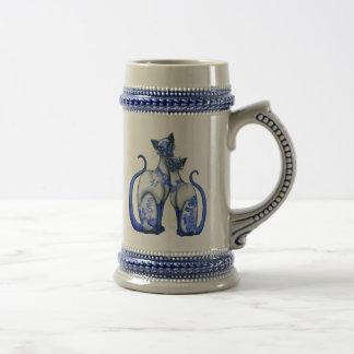 Chope À Bière Chats siamois de saule bleu