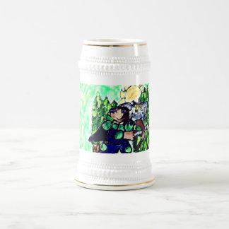Chope À Bière chevalier et hibou