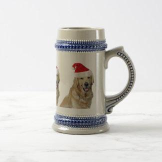 Chope À Bière Chien-animal familier de Labrador Noël-père Noël