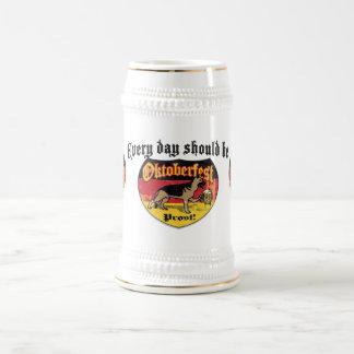 Chope À Bière Chien de civière de berger allemand