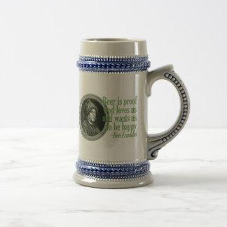 Chope À Bière Citation de bière de Franklin