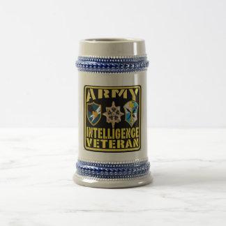 Chope À Bière Civière Stein de vétéran d'intelligence d'armée