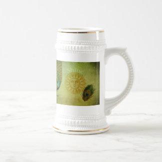 Chope À Bière Collage vintage d'art de paon